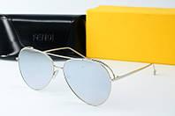 Солнцезащитные очки Fendi зеркальные, фото 1