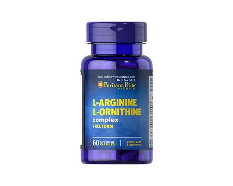 Аргинин Puritan's Pride L-Arginine L-Ornithine complex 60 caps