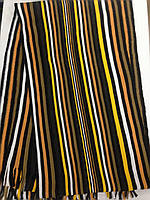 Турецкий стильный мужской шарф в полоску на концах бахрома