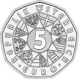 Австрия 5 евро 2009 г. 200-летняя годовщина со дня смерти Йозефа Гайдна , серебро UNC., фото 2
