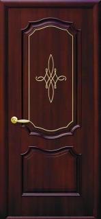 Дверное полотно Рока глухое с гравировкой GOLD