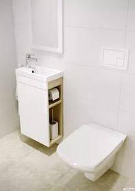 Комплект тумба Cersanit SMART белая + умывальник Cersanit COMO 40, белый