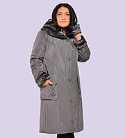 Женское зимние пальто- пуховик. Модель 63. Размеры 52-60