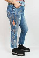 Турецкие джинсы Luizza  с вышивкой, стразы  и камни 50-62р