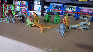 Динозаври силіконові, 10 видів A130B, 12 см