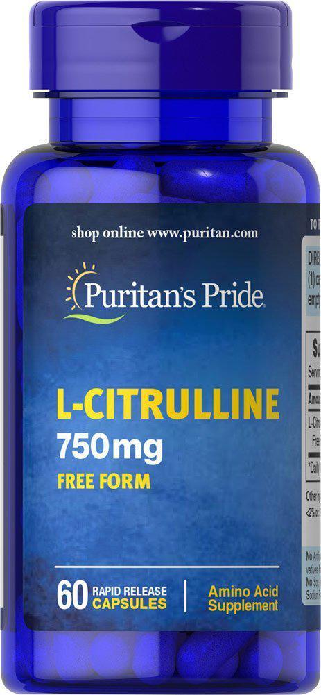 Цитрулин Puritan's Pride L-Citrulline 750 mg free form 60 caps