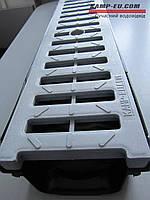 Комплект поверхностного водоотвода: Желоб 90 + решетка АБС серый пластик