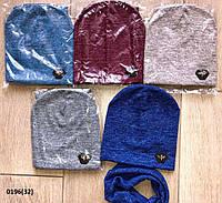 Набор детский для мальчика шапка+ хомут 0196(32)