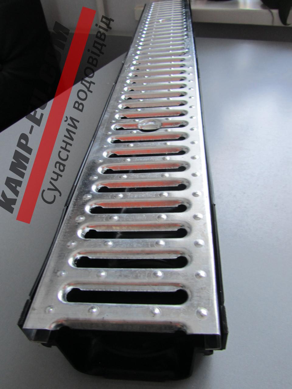 Комплект поверхностного водоотвода с стальной решеткой и желобом 90мм