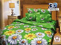 """Полуторное постельное белье """"Желто-белые ромашки"""""""