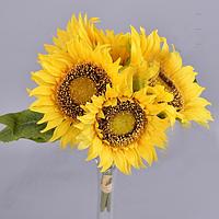 Букет Подсолнухов 25 см Цветы искусственные