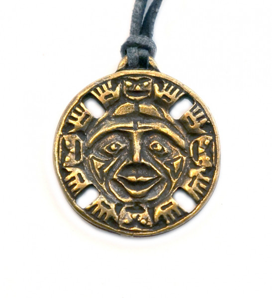 Амулет защитный Индейский дух бога Солнца