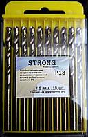 Сверло по металлу Р18 (HSS-Co5, Р6М5-К5) 4,5 мм, фото 1