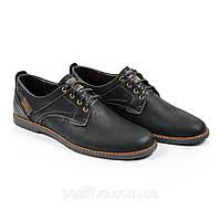 Туфли мужские кожаные Lorandi Shoes Black, фото 1