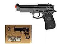Игрушечный пистолет металлический ZM18 с пульками