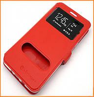 Чехол-книжка Nillkin 2 Window Style для Huawei P8 Lite Red