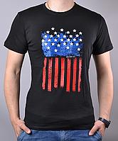 Черная мужская футболка с рисунком от производителя | 100 % хлопок, размеры: 44-52