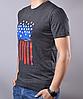 Темно-серая мужская футболка с рисунком от производителя | 100 % хлопок, размеры: 44-52