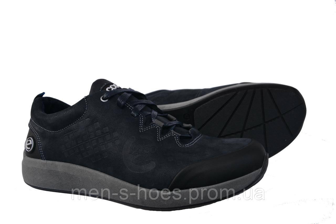 e03c8ad9a Мужские кроссовки Ессо Blue кожаные спортивные туфли -