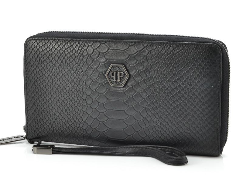 Мужской кожаный клатч Philipp Plein 252 Black