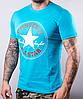 Мужская футболка Converse | 100 % хлопок, размеры: 44-52, цвет: бирюза