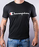 Мужская футболка Champion | 100 % хлопок, размеры: 44-52, цвет: черный