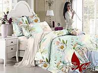 Комплект постельного белья с компаньоном S-104 семейный (TAG satin (sem)-104)
