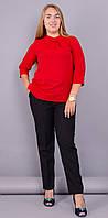 Кортни. Женская блузка супер батал. Красный. 60