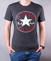 Мужская футболка Converse | 100 % хлопок, размеры: 44-52, темно-серая