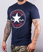 Мужская футболка Converse   100 % хлопок, размеры: 44-52, темно-синяя