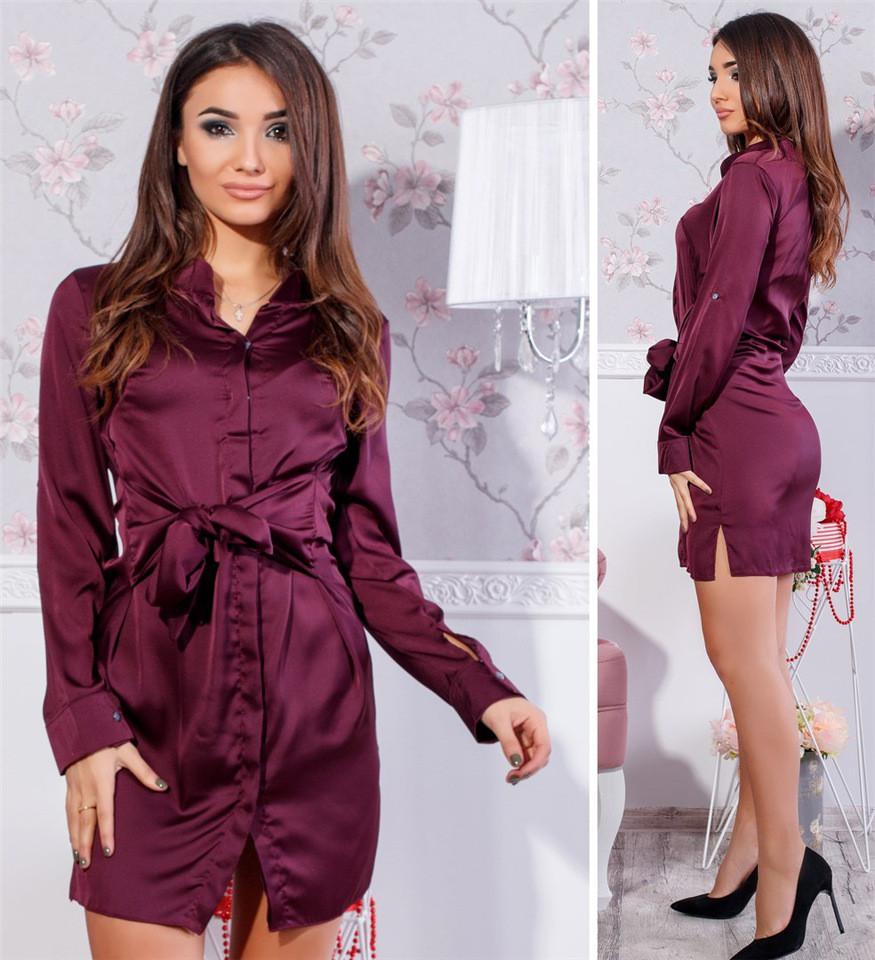 Платье рубашка Tamara шелк ( 4 цвета) 102 (443)