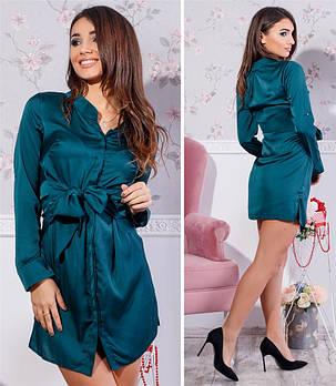 Платье рубашка Tamara шелк ( 4 цвета) 102 (443), фото 2