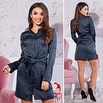 Платье рубашка Tamara шелк ( 4 цвета) 102 (443), фото 3