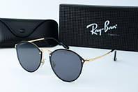 Солнцезащитные очки круглые Rb черные, фото 1