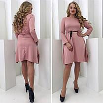 Асиметричное оригинальное платье Vitalina с поясом (2 цвета) 102(344), фото 2