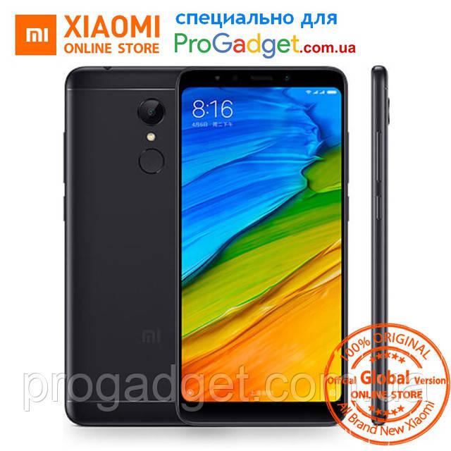 "Xiaomi Redmi 5 3/32 black - черный Безрамочный смартфон 5.7"" FullHD+, SD450 Global Version!"