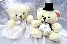 Свадебные мишки 40 см, Молочный (129)