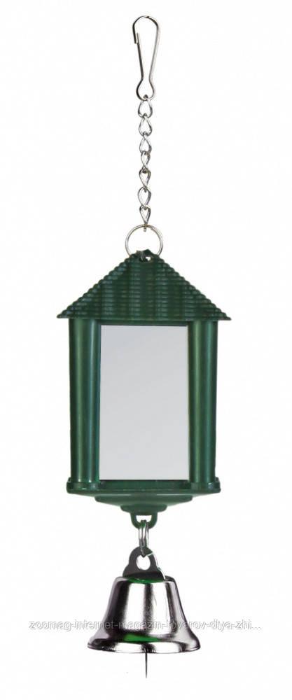 Зеркало-фонарик с колокольчиком пластиковое 6см, Trixie