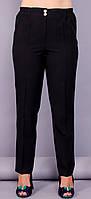 Элия. Классические брюки женские супер сайз. Черный. 64