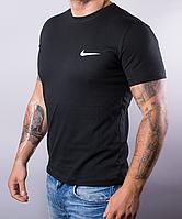 Черная мужская футболка Nike (Найк) | 100 % хлопок, размеры: 44-52