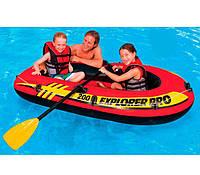 Двухместная надувная лодка  Intex