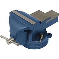 Тиски слеcарные поворотные синие 100 мм Miol 36-200