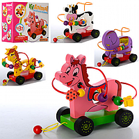 ДЕРЕВЯННАЯ ИГРУШКА КАТАЛКА MD 0922, детская игрушка, игра для детей