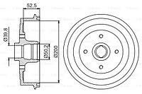 Барабан тормозной Daewoo Lanos 1.4-1.6, Sens 1.3-1.4 (без ABS) Profit