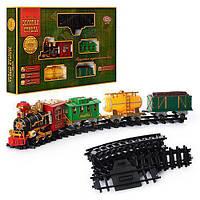 Железная дорога 0621/40352, 20 предметов, дым, муз(укр),свет,на батарейке,в кор-ке,70-44-10см,детская ЖД