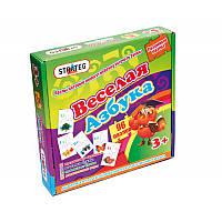 Пазлы 518 Стратег, Веселая азбука, в кор-ке 25-25-5см, детская игра, игрушка
