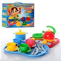 """""""Маринка"""" в картонной коробке1554,детская посудка, игрушечная посуда"""