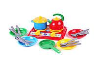 """Игрушка кухня """"Галинка 7 ТехноК"""", арт. 2179, детская игровая кухня, игра для девочек, посудка, плитка"""