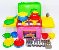 """Кухня """"Галинка 8"""" 2377, детская игровая кухня, игрушечная посудка, плитка, для девочек"""