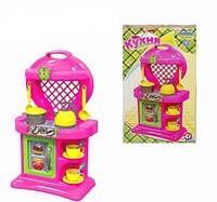 """Кухня №10 2155 """"ТЕХНОК"""" в коробке, детская игровая кухня, игра,набор, посудка, плита"""